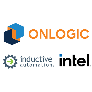 Intel, Inductive Automation, and OnLogic Logos