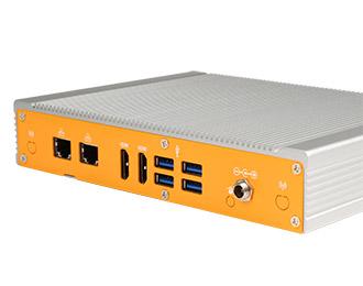 Lüfterloser Industrie-PC im Niedrigprofil mit Intel Core i3/i5/i7