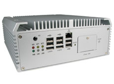 AU970 fanless rugged industrial computer front IO