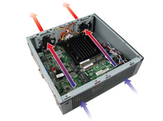 MC500 Mini-ITX Case with flexible cooling options