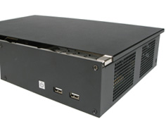 Fanless NUC case with optimized cooling