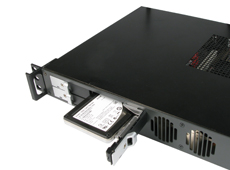 1U rackmount case LCD display for human interface device
