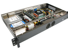 Quality designed MK102 1U rackmount case with cable management