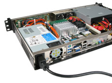 MK100 1U rackmount case with world power options