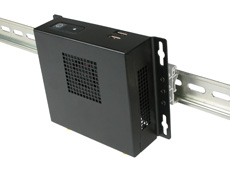 NC200 Intel NUC Case DIN rail mounted