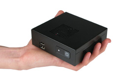 NC200 NUC Computer fits in the palm of your hand