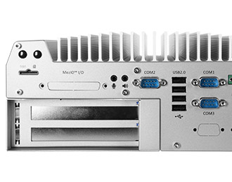 Neousys Rugged Intel Skylake Fanless Computer with Dual PCIe Slot Expansion Cassette