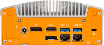 Lüfterloser Industrie-Embedded-NUC mit zwei LAN und Intel Whiskey Lake